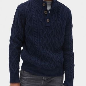 Gap Kids Blue Cable Knit Pullover Sweater - S